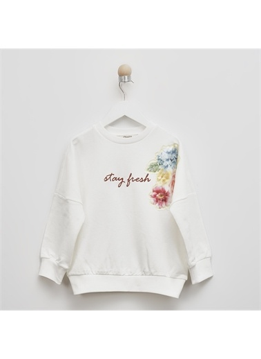 Panço Kız Çocuk Sweatshirt 2111GK08010 Bej